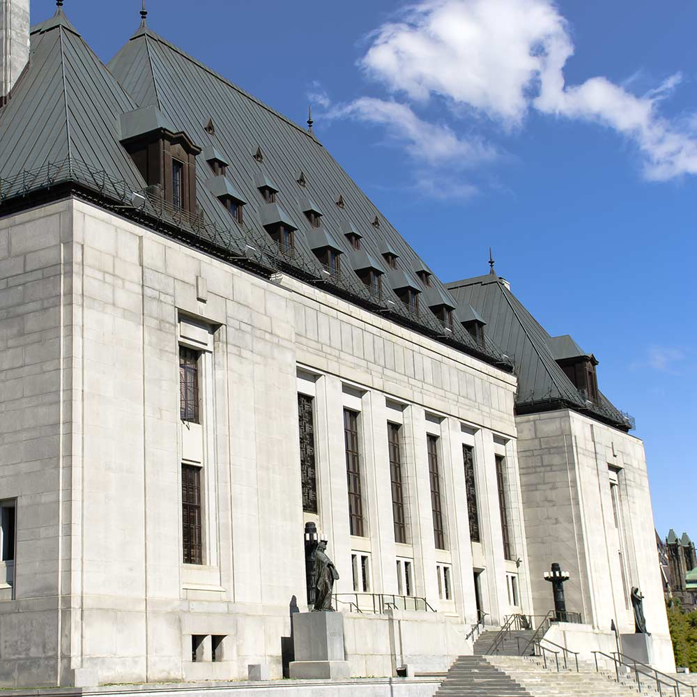 exterior of supreme court building in ottawa ontario
